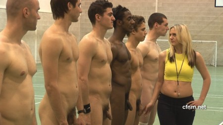 college male team gets naked