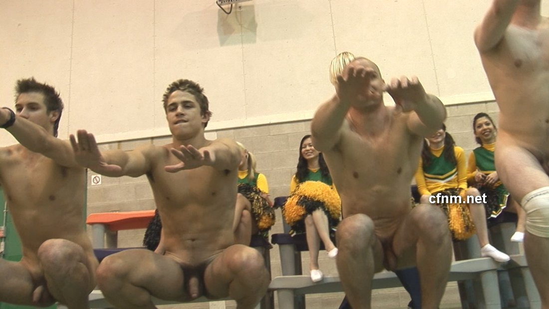 Athletic college male nude amusing